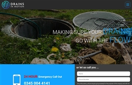 Drains in Motion - Web Design for Drain Specialists