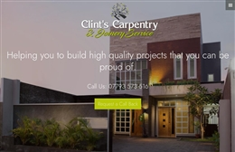 Clint's Carpentry - Carpentry Web Design by Toolkit Websites