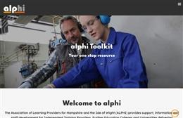 Alphi - Training website design by Toolkit Websites