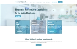 Medic Protect - Financial web design by Toolkit Websites, professional web designers