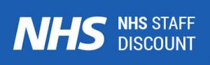 NHS logo, 10% discount