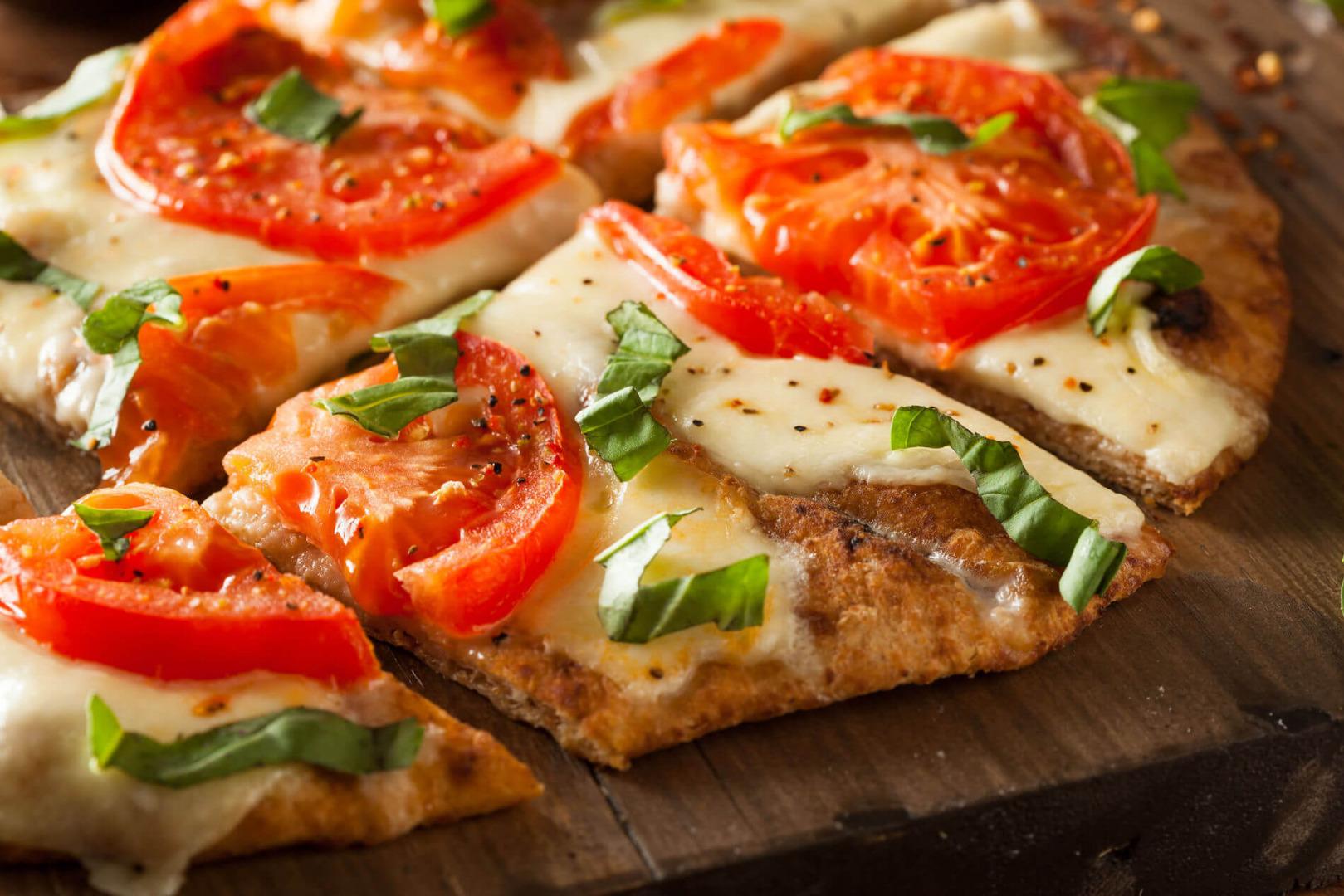 Bread Garlic Pizza Meal