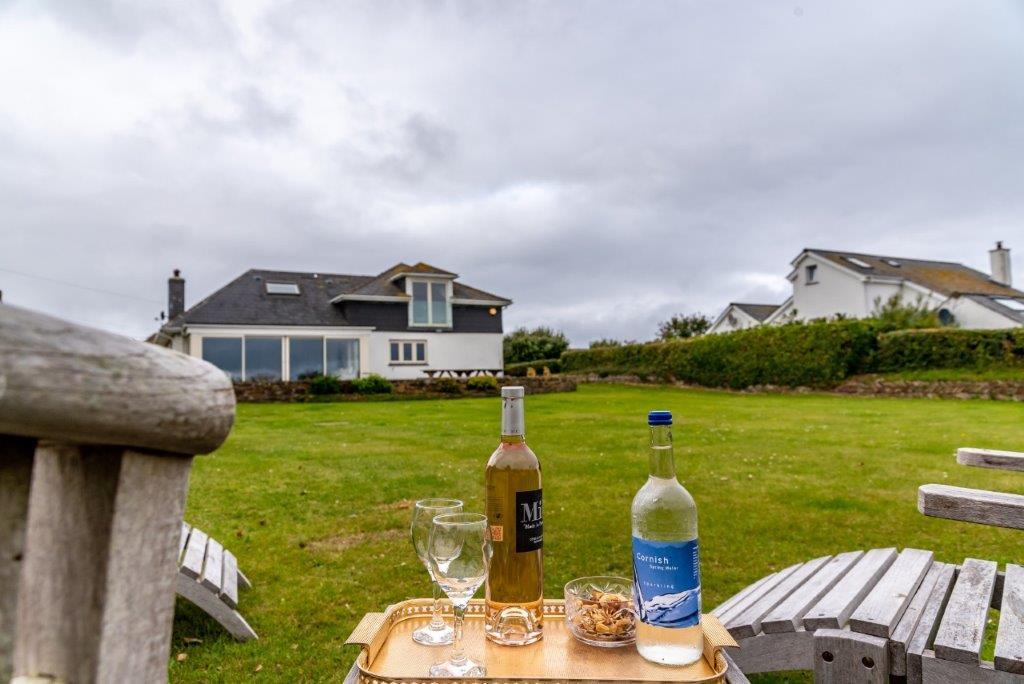 Treless Outside Lounge | Garden | Wine Bottle