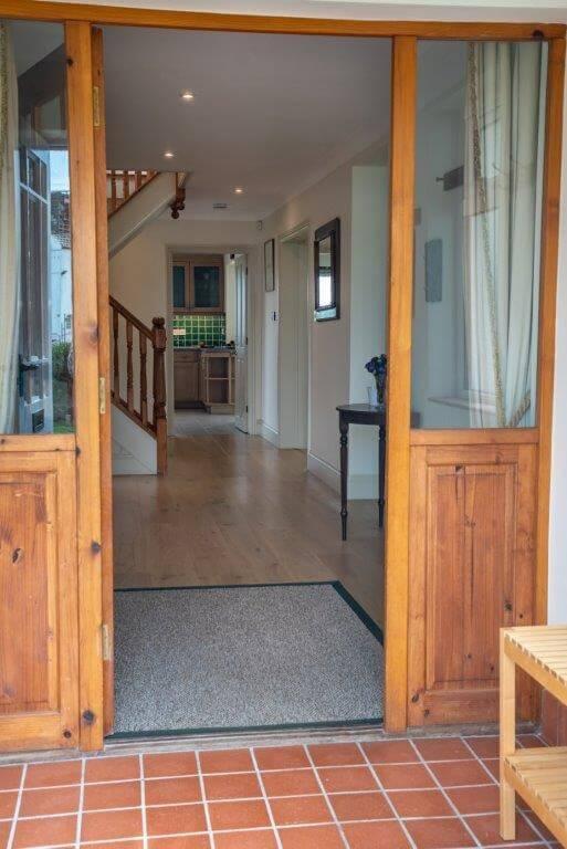 Treless Wooden Porch   Wooden Doorway