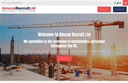 Amcon Recuitment - Recruitment website design by Toolkit Websites, professional web designers