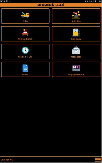RMS Driver App Screenshot