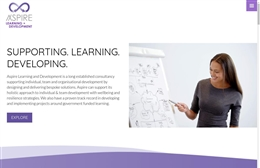 Aspire Learning - website design by Toolkit Websites