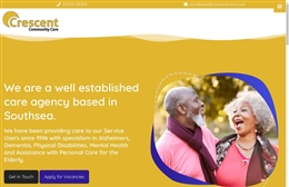 Crescent Care - Care Home website design by Toolkit Websites, professional web designers