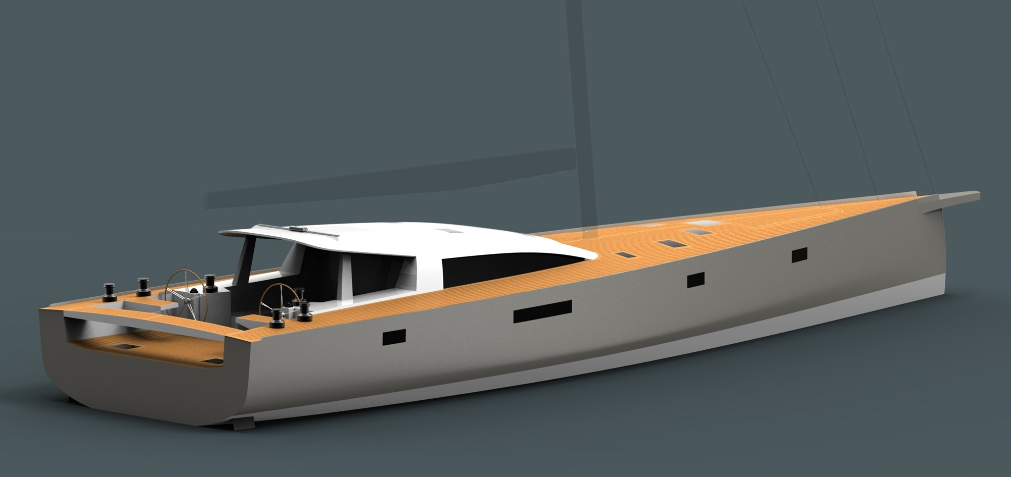 Owen Clarke Design (OC) yacht designers created this custom carbon and foam composite short-handed design for a Scandinavian client, a 23m lifting keel, performance blue water cruising sailboat.
