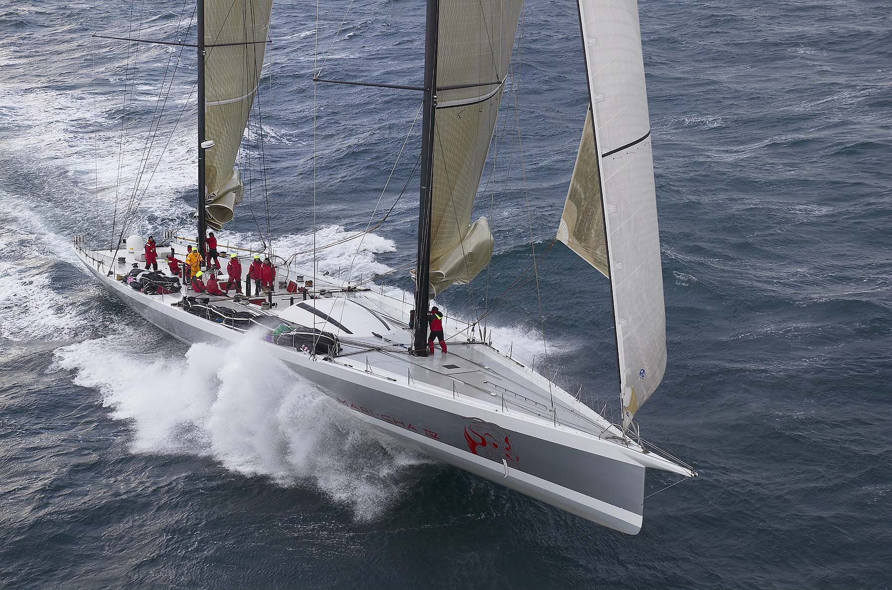 Owen Clarke Design undertook the performance optimisation for the last refit of the maxi racing schooner Mari Cha 4. This included a vpp review of the sailing balance of the yacht which resulted in a fundamental revision of how the yacht was sailed and our design and engineering of two very large daggerboards, each weighing in the region of 250 kg.