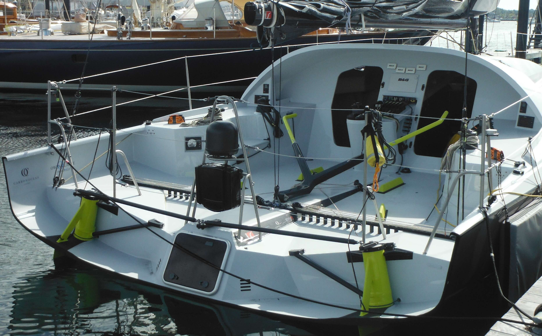 Owen Clarke designed No.143 Class 40 Open racing yacht was built in the USA, launched in 2015 and named Longbow