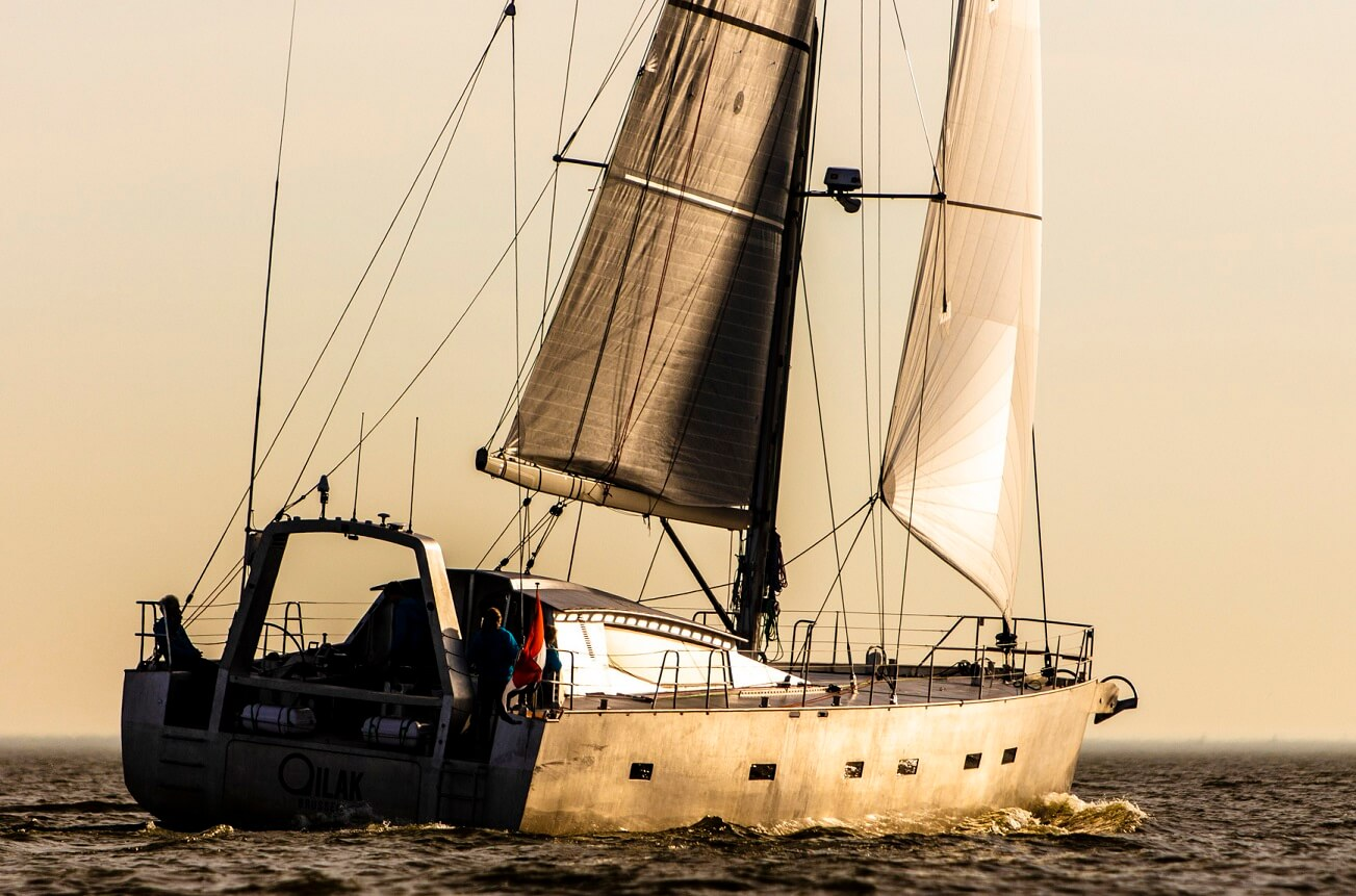 Qilak is a custom sailing yacht design, an Owen Clarke designed blue water lifting keel expedition yacht, a cruising explorer of the Arctic, Antarctic and the North West Passage. She is built from aluminium and was launched in September 2018 at KM Yacht Builders, Makkum, Holland.