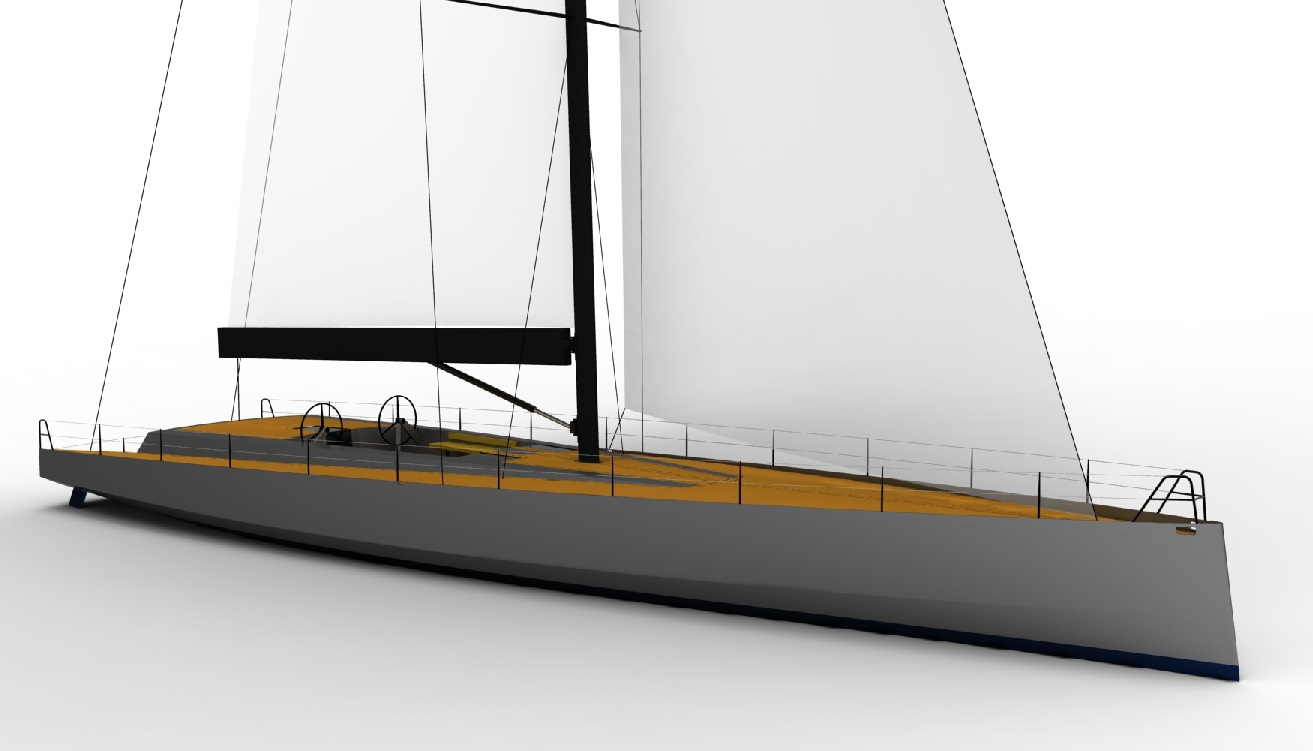 .This is a 77' Mediterranean solo daysailer design from Owen Clarke Design who have over twenty five years' experience of  implementing best design practice for cruising and racing yachts with twin rudder steering systems for solo and short handed sailors. Our first such design was Maverick, lifting keel twin rudder racing sailboat design launched in 1993.