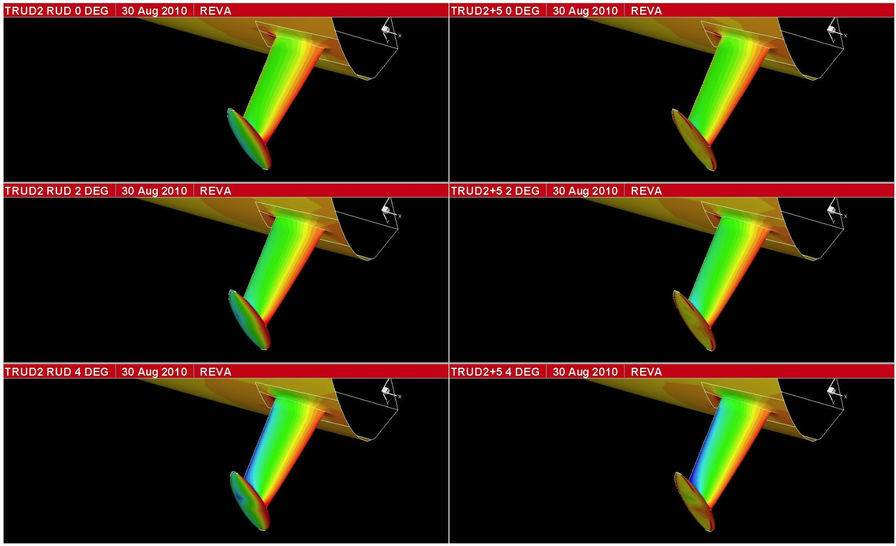 Although it remains banned by the IMOCA rule, during the design and development of their Open 60 yacht designs, naval architects Owen Clarke Design have investigated the inclusion of a T foil rudder concept both as a lifting device and for trim control.  Testing was carried out at 1/3rd model scale and using computational fluid dynamics, CFD.