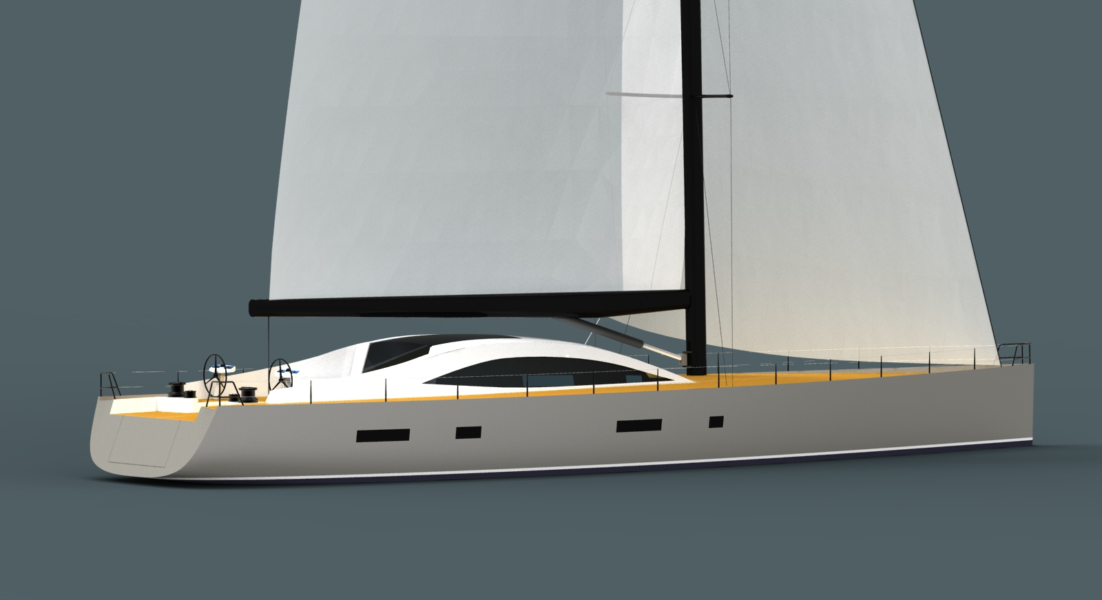 Owen Clarke are designers who deliver fast custom cruising boat, advanced sailboat and superyacht design with style and reliability derived from our offshore and ocean racing background. This 30m blue water cruising design is at the upper end of what is considered a cruising yacht, and at the lower end in terms of size for a superyacht.