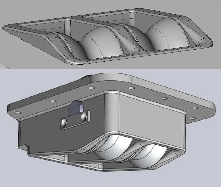 This is a custom deck sheave box for the spinnaker sheets for a large sailing superyacht. The fitting was designed and engineered by Owen Clarke Design as a 3D solid part and CNC cut from solid aluminium. OC also specialise in the design of carbon and titanium deck hardware and parts for large yachts and superyachts.