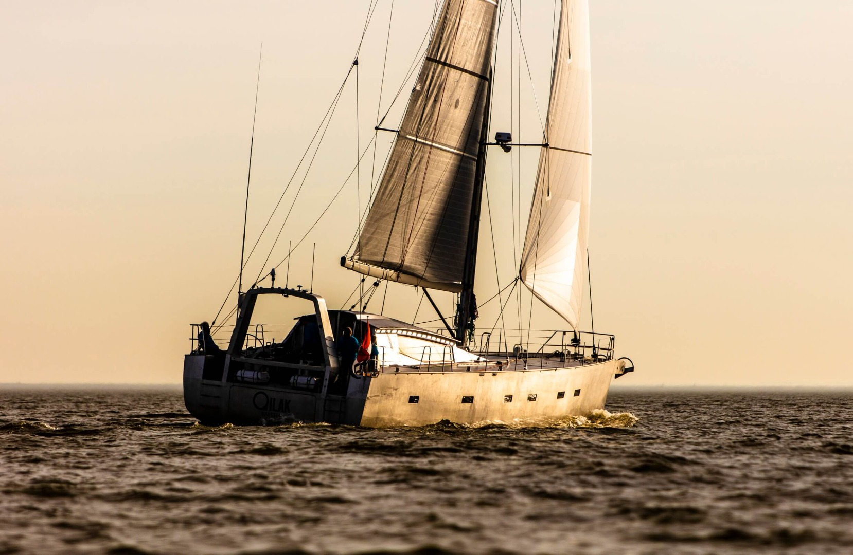 This is OC Design's high latitude aluminium polar sailing yacht Qilak, designed as a blue water explorer yacht designed for expeditions, cruising in the Arctic and Antarctic in a single season