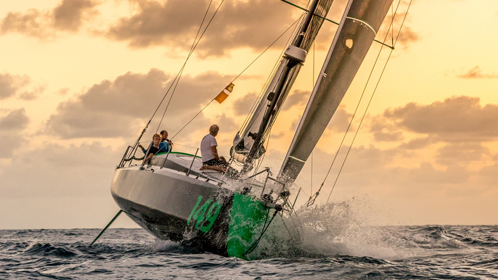 This is Hydra, an Owen Clarke Design Class 40 Open racing yacht taking part in the 2018 RORC Transatlantic Race