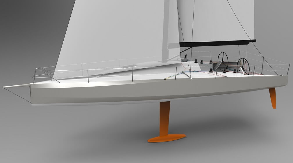 This is Owen Clarke Design's first medium size IRC ORC rating rule offshore 40 foot racing yacht design the OCD 401
