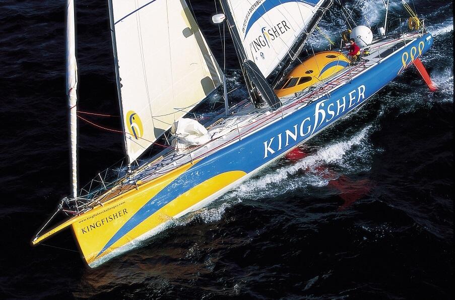 Kingfisher was Owen Clarke Design's first IMOCA 60 racing yacht design, skippered by Ellen Macrthur in the 2000 Vendee Globe