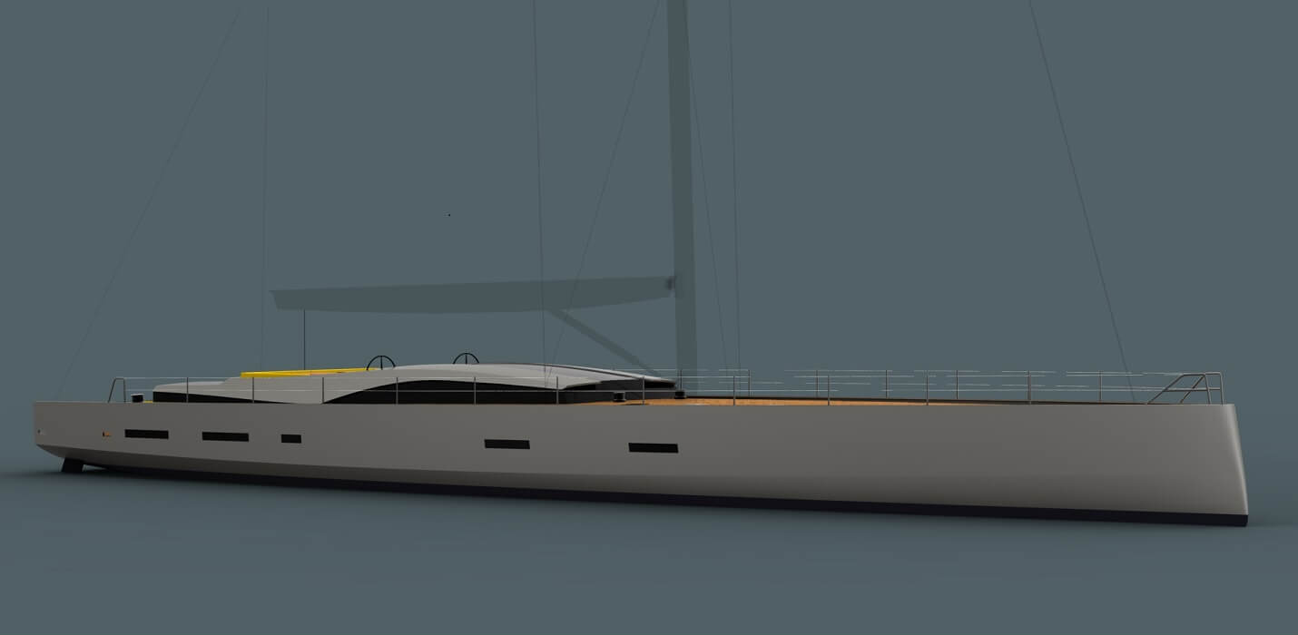 This is the latest large custom performance cruising yacht design from Owen Clarke. A long distance blue water cruiser created as a cruiser racer to be equally at home racing at superyacht bucket regattas, luxurious family cruising in the Med. or making a trans-oceanic passage to the Caribbean.