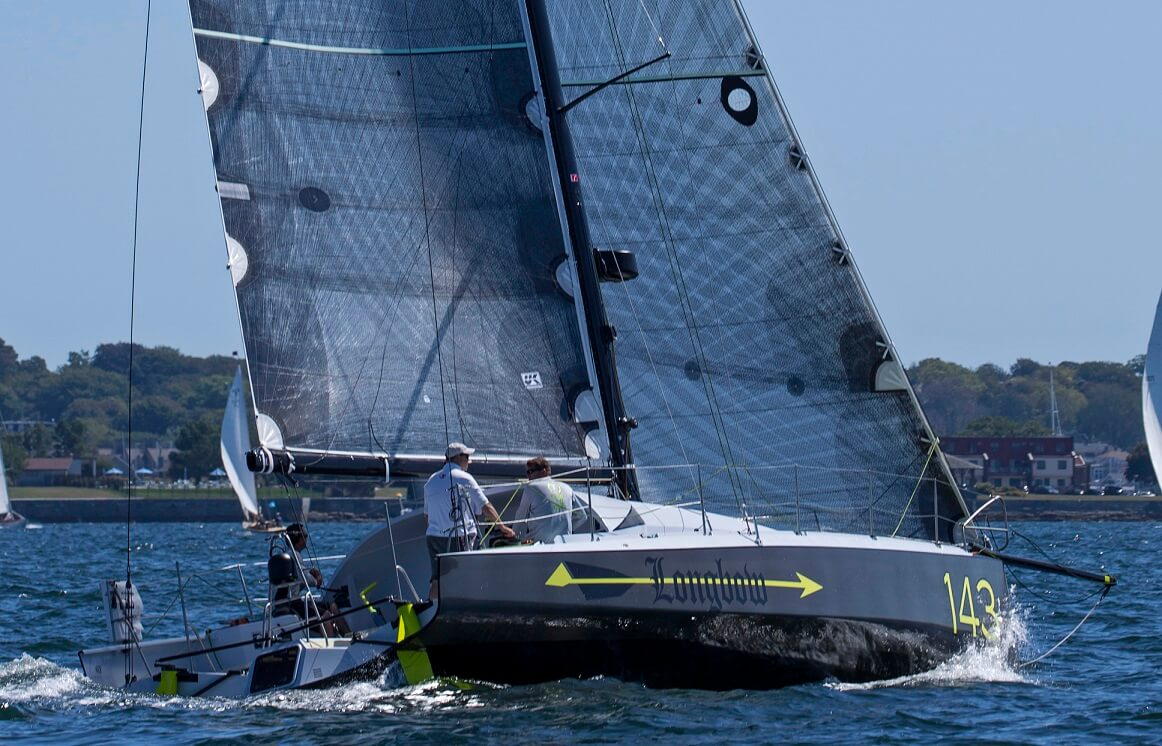 Longbow is a lifting, kick up rudder Class 40 racing yacht by designers Owen Clarke Design. She was built, optimised specifically for racing on the east coast of the USA and has the first and only masthead rig in Class 40.