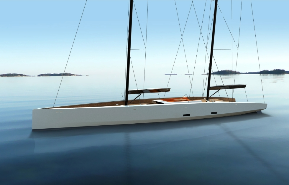 Owen Clarke developed the concept and then worked as naval architects with Aivan who undertook the interior and exterior styling. Together we developed this modern blue water schooner for a private client more than a decade ago, but there is still nothing quite like her. She was too beautiful to remain in the box forever.