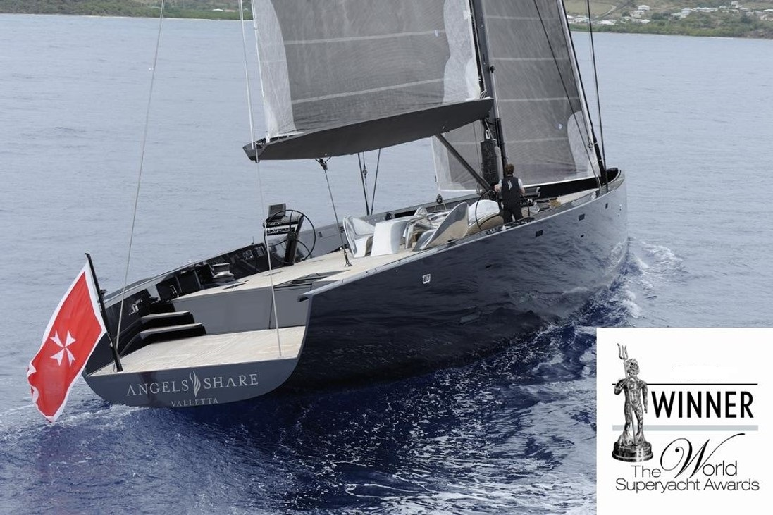 The 40m sailing yacht Angels Share won a top prize at the World Superyacht Awards for best refit, for which Owen Clarke Design were the consultant naval architects and designers
