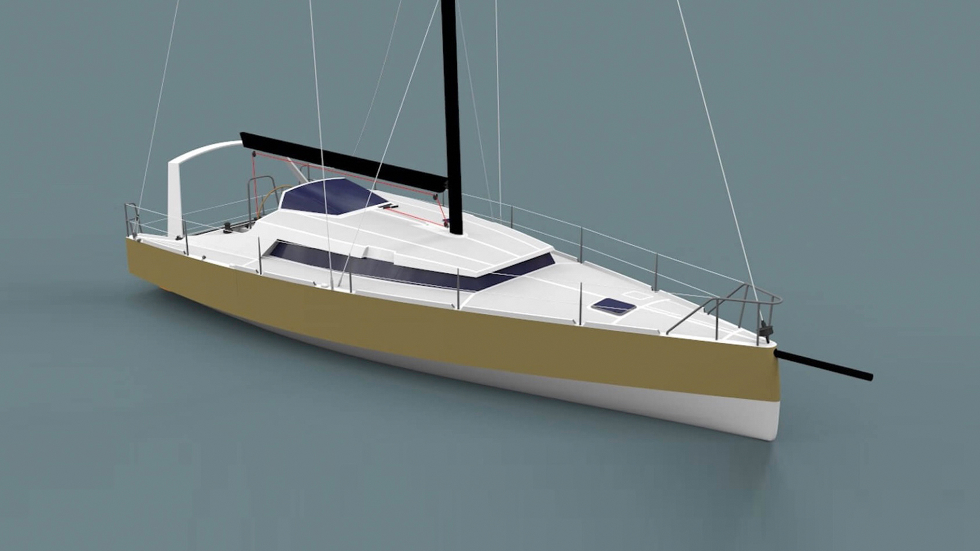 Owen Clarke Design are the designers of this custom 40 foot blue water lifting keel cruising yacht which is currently in-build at the  Alwoplast yard in Chile.