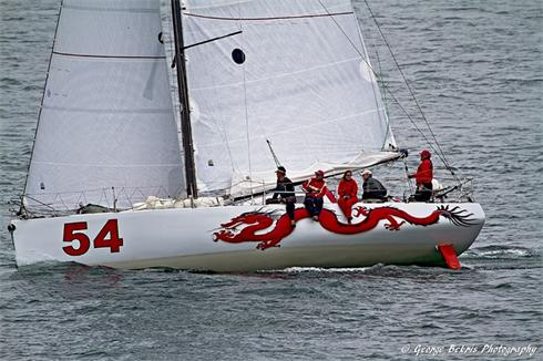 Mike Hennessy's Class 40 'Dragon' during the 11th Hour Racing Atlantic Cup event in Newport