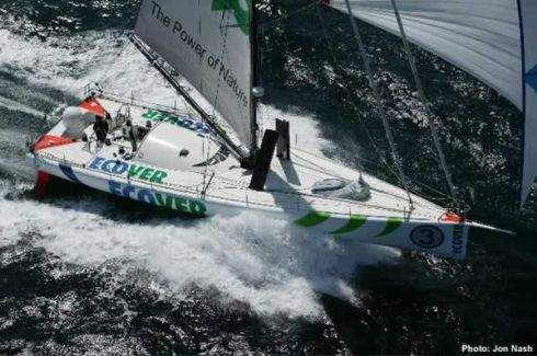 Ecover in `delivery mode` on the way to the start of the Transat 2004