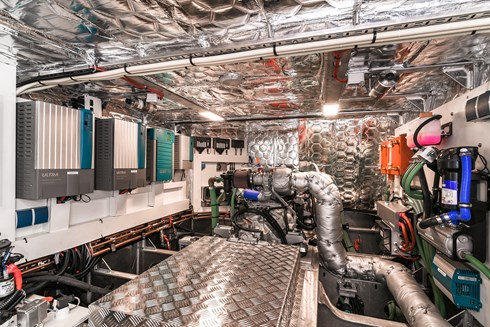 Engine room - Photo by KM Yachtbuilders/Arthur Smeets
