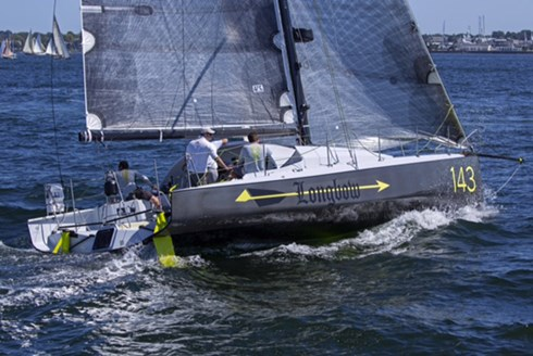 Longbow, is a new Owen Clarke Design custom Class 40 racing sailboat built by Carbon Ocean Yachts in the USA and recently launched in Newport RI.