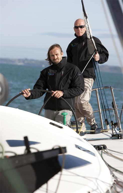 27th October 2009. Mike Golding Yacht RacingPictures of yachtsman Mike Golding (GBR) and co skipper Javier Sanso (ESP). Shown here whilst training their IMOCA Open 60 prior to the TJV start in Le Harve next month
