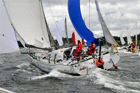 Rune Aasberg and his Class 40 'Solo', Owen Clarke designed Express 40, winner of the 2010 Two Handed Round Britain and Ireland Race
