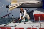 Jörg Riechers on mare.de Class 40 (Cinnamon Girl, charter through Owen Clarke Design) © Christophe Breschi