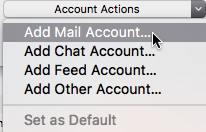 Where to find 'Add Mail Account' for setting up emails in Thunderbird