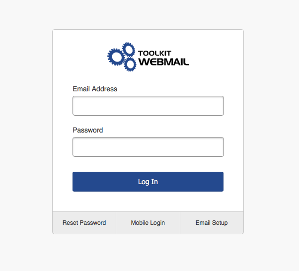 Logging In To Webmail