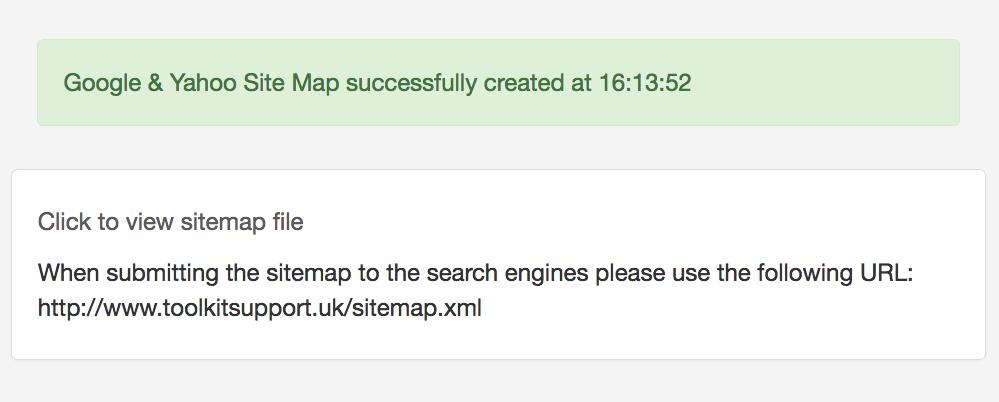 xml sitemap creation