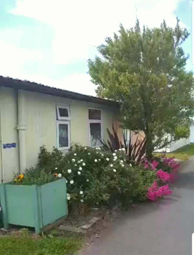 Chalet 1 has private parking and a secure garden