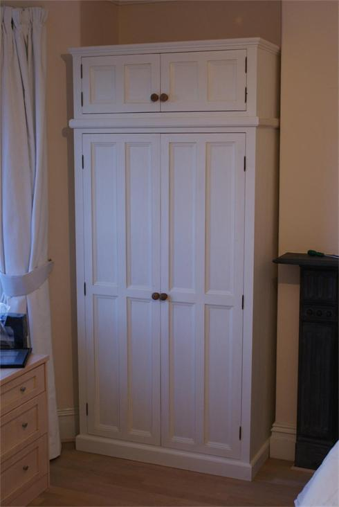 Double Wardrobe, finished in old English White.