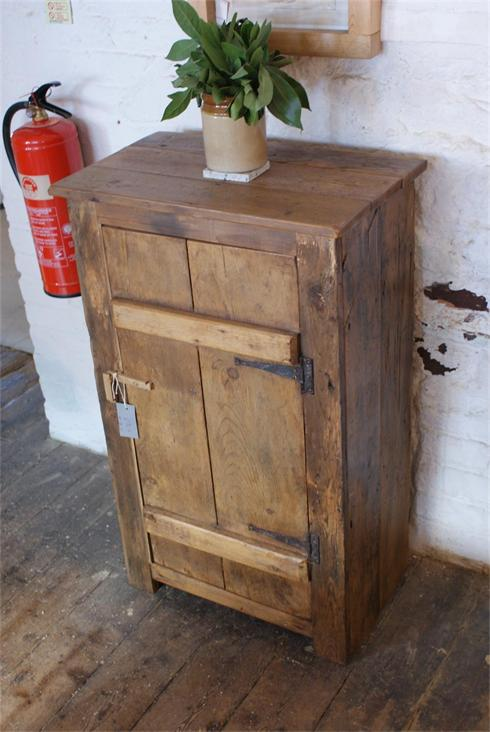 Small cupboard made from reclaimed timber