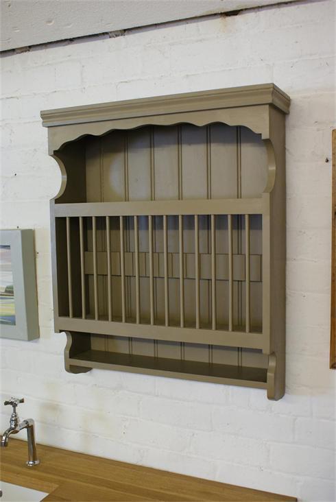 Wall mounted plate rack.  £180