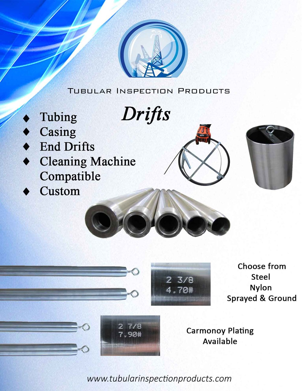 Drifts & Supplies : Tubular Products