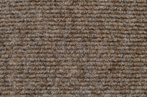 Beige Hard wearing ribbed exhibition carpet