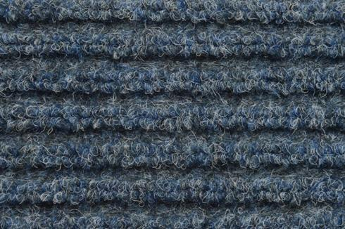 Blue Hard wearing jumbo ribbed carpet