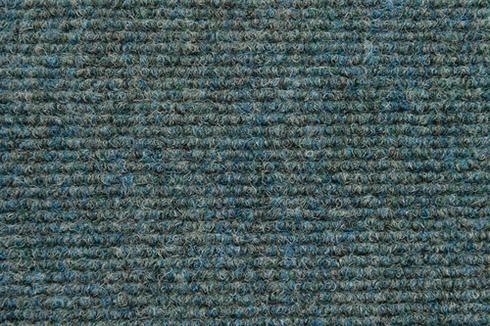 Blue Hard wearing ribbed exhibition carpet