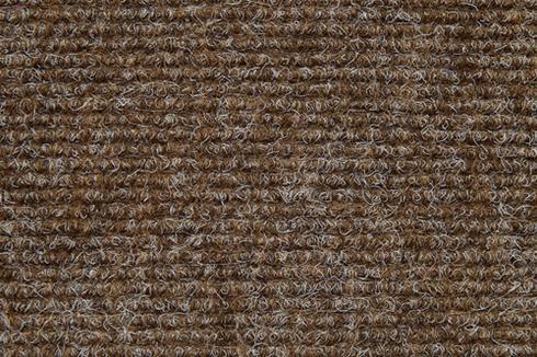 Brown Hard wearing ribbed exhibition carpet