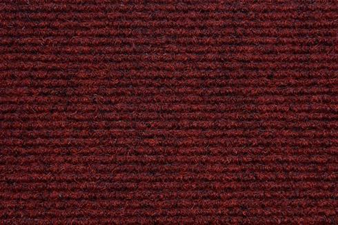 Burgundy Hard wearing ribbed exhibition carpet