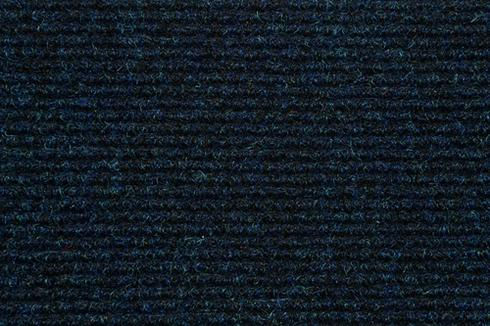 Dark blue Hard wearing ribbed exhibition carpet